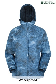 Mountain Warehouse Navy Torrent Womens Printed Waterproof Jacket