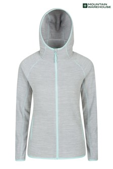 Mountain Warehouse Grey Lleyn Melange Womens Full Zip Fleece