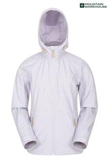 Mountain Warehouse White/Lilac Iona Womens Softshell Jacket