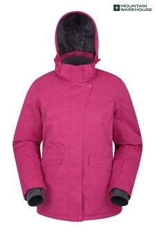 Mountain Warehouse Pink Snowfall Womens Textured Ski Jacket