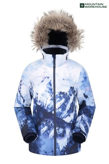 Mountain Warehouse Blue Nordic Extreme Printed Womens Ski Jacket