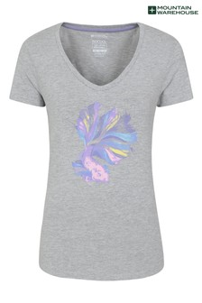 Mountain Warehouse Grey Forest Trees Printed Womens Tee