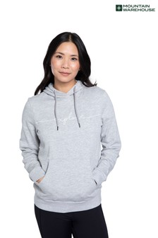 Mountain Warehouse Grey Explore Embroidered Womens Hoodie