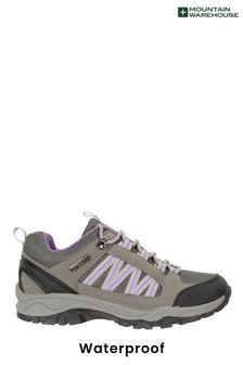 Mountain Warehouse Black Path Waterproof Womens Walking Shoes