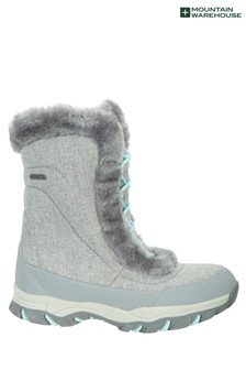 Mountain Warehouse Grey Ohio Womens Snow Boots