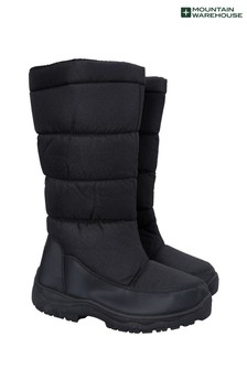 Mountain Warehouse Black Icey Womens Long Snow Boots