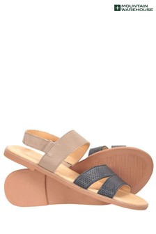 Mountain Warehouse Navy Vacation Womens Leather Sandal