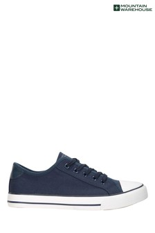 Mountain Warehouse Navy Womens Canvas Plimsoll Trainers