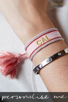 Personalised Woven Bracelet by HA Design