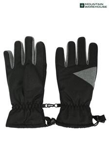 Mountain Warehouse Black Kids Waterproof Ski Gloves