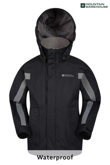 Mountain Warehouse Black Samson Kids Waterproof Jacket