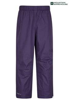 Mountain Warehouse Purple Spray Kids Waterproof Trousers