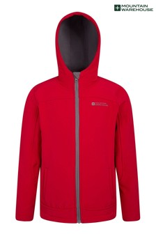 Mountain Warehouse Red Exodus Kids Water Resistant Softshell