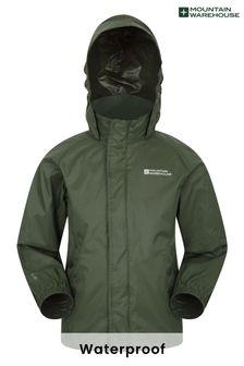 Mountain Warehouse Khaki Pakka Kids Waterproof Jacket