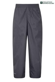Mountain Warehouse Grey Pakka Kids Waterproof Over Trousers