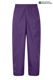 Mountain Warehouse Purple Pakka Kids Waterproof Over Trousers