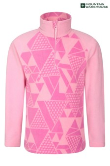 Mountain Warehouse Pink Geo Endeavour Kids Printed Fleece