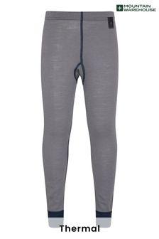 Mountain Warehouse Grey Merino Kids Base Layer Thermal Pants