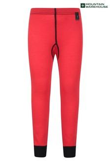 Mountain Warehouse Red Merino Kids Base Layer Thermal Pants
