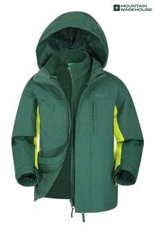 Mountain Warehouse Khaki Mountain Warehouse Cannonball 3 In 1 Kids Waterproof Jacket