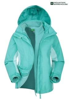 Mountain Warehouse Blue Lightning 3 In 1 Kids Waterproof Jacket