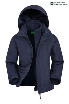 Mountain Warehouse Navy Fell Kids 3 In 1 Water Resistant Jacket