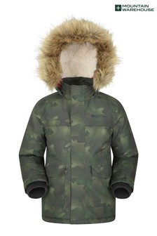 Mountain Warehouse Green Samuel Kids Water-Resistant Parka Jacket