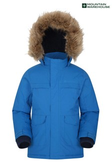 Mountain Warehouse Cobalt Samuel Kids Water-Resistant Parka Jacket
