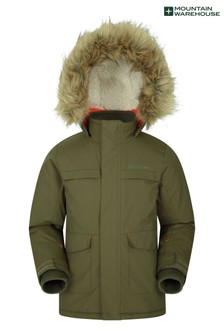 Mountain Warehouse Khaki Samuel Kids Water-Resistant Parka Jacket