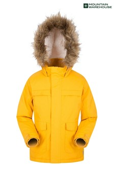 Mountain Warehouse Yellow Samuel Kids Water-Resistant Parka Jacket