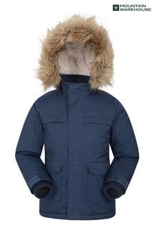 Mountain Warehouse Navy Samuel Kids Water-Resistant Parka Jacket