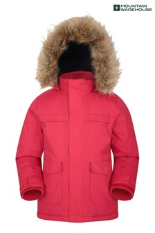 Mountain Warehouse Red Samuel Kids Water-Resistant Parka Jacket