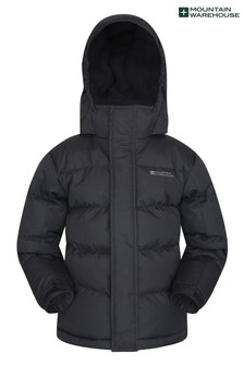 Mountain Warehouse Black Snow Kids Water-Resistant Padded Jacket