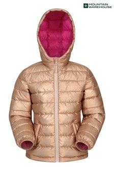 Mountain Warehouse Gold/Pink Seasons Kids Water Resistant Padded Jacket