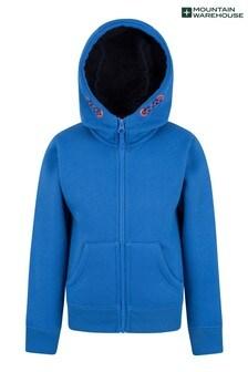 Mountain Warehouse Blue Nordic Kids Fur Lined Full-Zip Hoodie