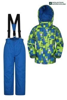 Mountain Warehouse Blue Kids Ski Jacket And Pant Set