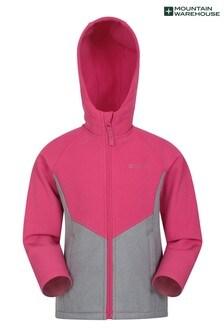 Mountain Warehouse Pink Cosmic Kids Softshell Jacket