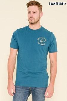 Brakeburn Blue Winter Surf Short Sleeve Printed T-shirt