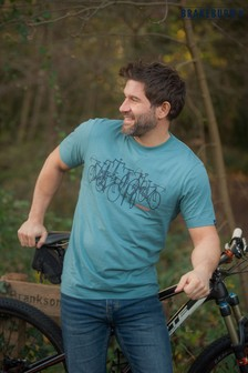 Brakeburn Blue Bicycle Short Sleeve Printed T-shirt