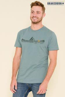Brakeburn Blue Canoeist Short Sleeve Printed T-shirt