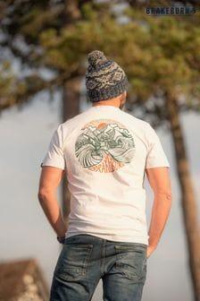 Brakeburn White Logo Short Sleeve Printed T-shirt