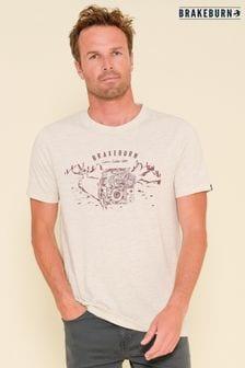 Brakeburn White Adventure Short Sleeve Printed T-shirt