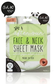 Oh K! After Sun Aloe Sheet Face And Neck Mask