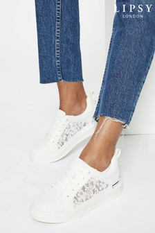 Lipsy White Nude Chunky Trainer