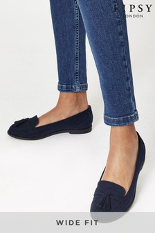 Lipsy Navy Wide FIt Tassel Loafer