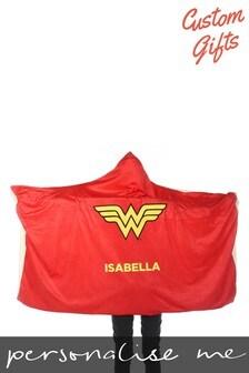 Personalised Wonder Woman™ Kids Hooded Blanket By Custom Gifts