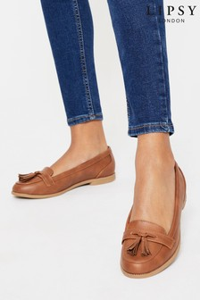 Lipsy Tan Brown Regular Fit Tassel Loafer