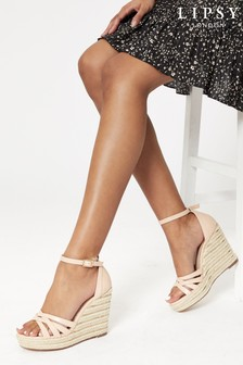 Lipsy Nude Strappy Espadrille Wedge
