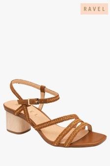 Ravel Brown Block Heel Sandal