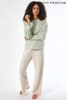 Dorothy Perkins Green Puff Sleeve Sweatshirt